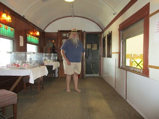 TripAdvisor & Displays inside a Northern Pacific dining car. - Picture of Inland ...