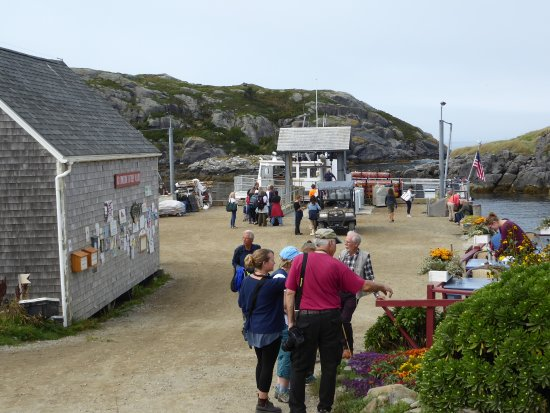 Monhegan Island, ME: Outside patio on the right