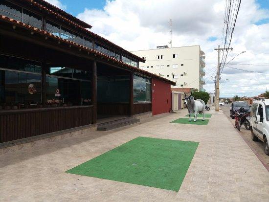 Taiobeiras, MG: Vista da entrada