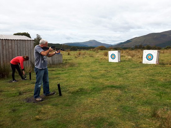 North Ballachulish, UK: Crossbows.