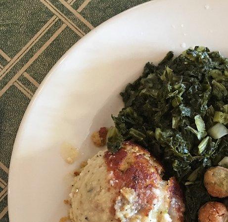 LaGrange, GA: Pork Loin, Cornbread Dressing, Cranberry Sauce, Fried Okra, Turnips and Cornbread
