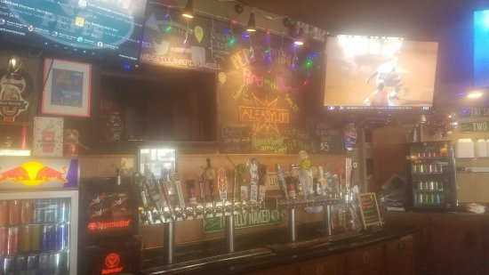 Racine, WI: 24 rotating taps, 17 TV's, NFL ticket, award winning bloody mary's!