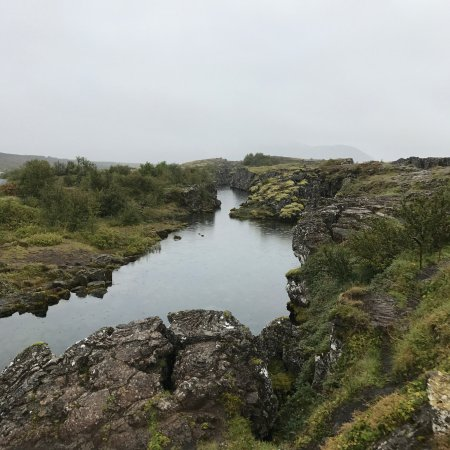 Thingvellir, Islândia: crack in earth