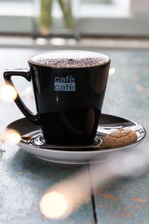 Otley, UK: Freshly brewed Cappuccino