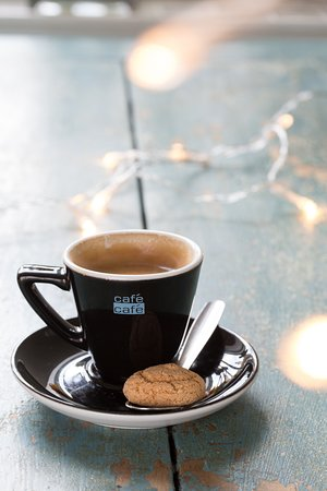 Otley, UK: Freshly brewed Espresso