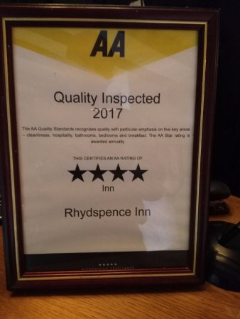 Whitney-on-Wye, UK: They keep this award very quiet.