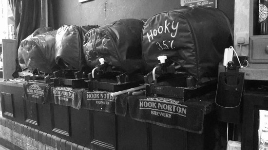 Wroxton, UK: Traditional Cask Ales Racked And Ready To Go