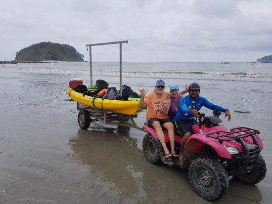 Playa Samara, Costa Rica: Kayaking with Carillo Adventures & Travel.