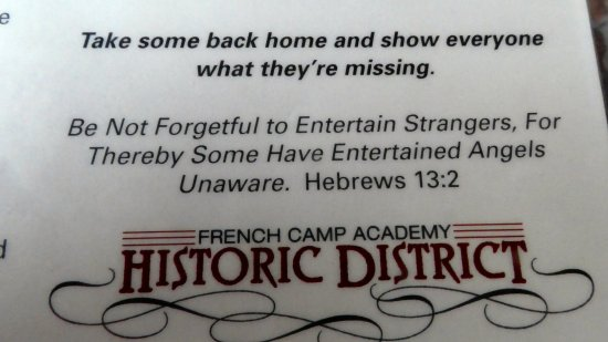 French Camp, Μισισιπής: They got this right!