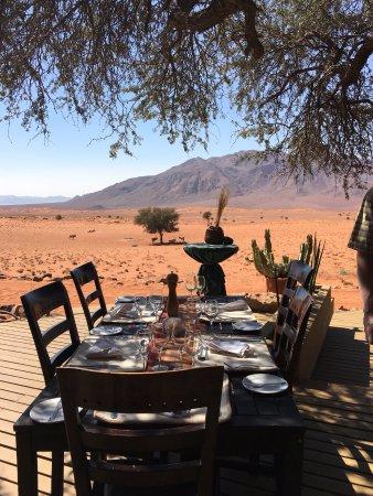 Wolwedans Dune Camp: Meals all taken al fresco