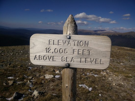 Elevation FT Above Sea Level Picture Of Alpine Visitor - Elevation in feet above sea level