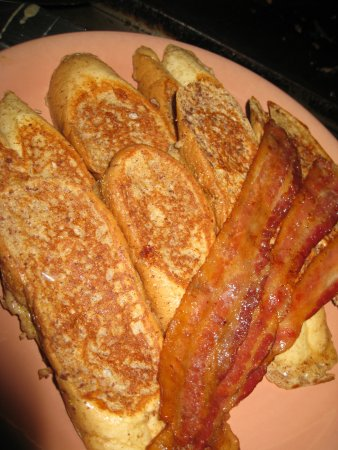 Seabrook, NH: Golden grilled french toast and bacon