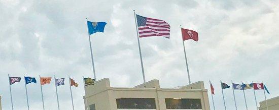 Norman, OK: US, OK, OU and Big XII Flags