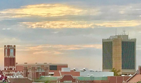 Norman, OK: Sunset Over OU Campus