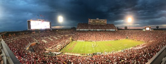 Norman, OK: Evening Panorama of Memorial Stadium