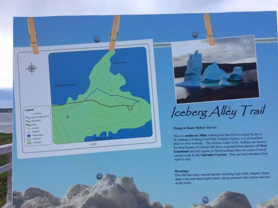 St. Anthony, Canada: A cute photo of the Iceberg Alley Trail telling visitors about the place