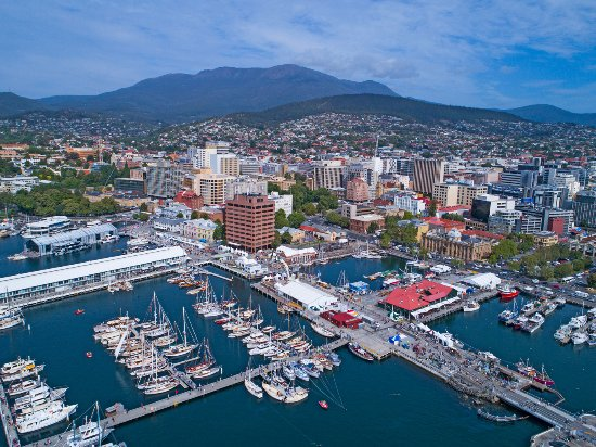 Tasmania, Australia: Aerial view of Hobart. Photo by: Stuart Gibson