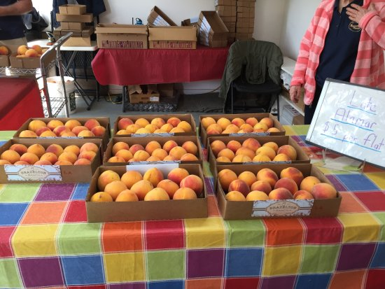 Vacaville, CA: more peaches on display