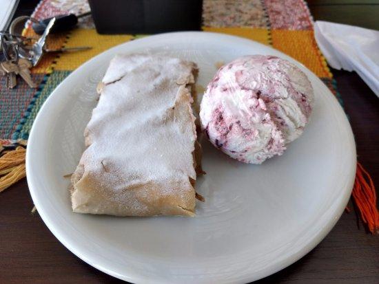 Casa da Lucia: Strudel com sorvete de framboesa (Sorvete Péssimo)