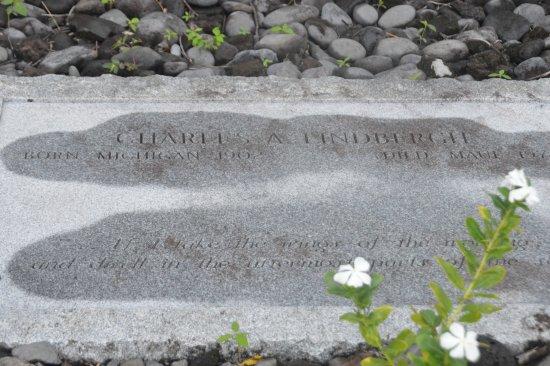 Wailuku, HI: Grave Marker Of Charles Lindbergh