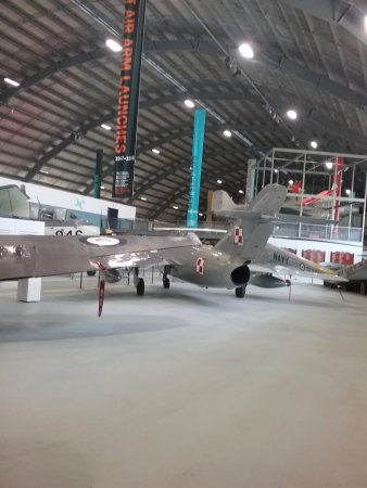Fleet Air Arm Museum: Huge hangar in which all these wonderful monuments of history are displayed.