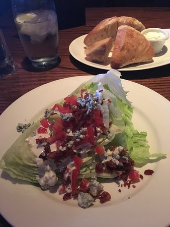 Cambridge, Canada: Wedge salad with blue cheese