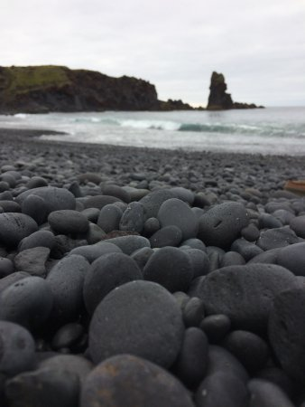Hellnar, Iceland: The stones are black and rounded