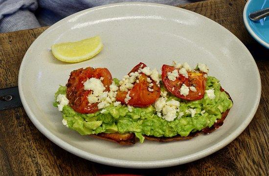 Dural, Australia: Smashed Avocado, fetta and roasted tomato on sourdough