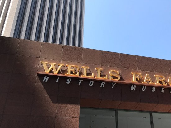 Wells Fargo History Museum: Signage on ground floor of plaza