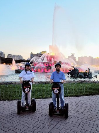 City Segway Tours Chicago : Around the fountain at 7pm or so