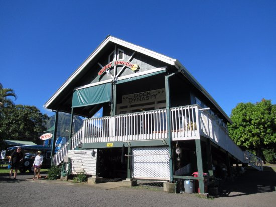 Hanalei, HI: Walk upstairs to check in. Then you are on your way.
