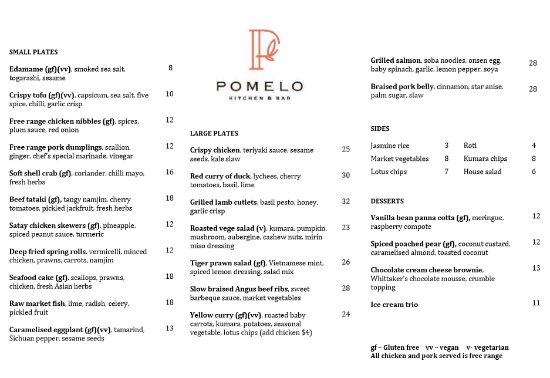 Pomelo Kitchen & Bar - Menu - Picture of Pomelo Kitchen & Bar ...