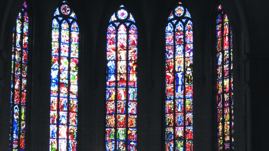 Notre Dame Cathedral (Cathedrale Notre Dame): Stained glass of Cathedrale Notre-Dame Luxembourg