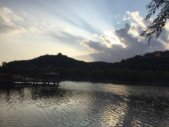 Jilin, China: 北山公園及滿族博物館的外觀