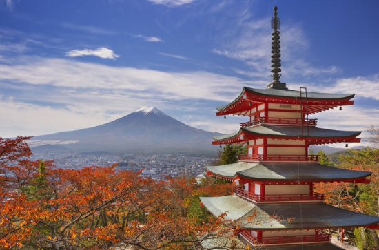 Autumn Leaves: Mt. Fuji, 5-Storey...