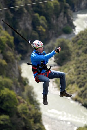 Shotover Canyon Swing & Canyon Fox: Shotover Canyon Fox, Queenstown New Zealand