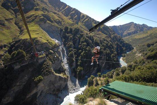 Shotover Canyon Swing & Canyon Fox: Shotover Canyon Fox, Queenstown New Zealand