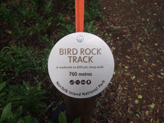 Isla Norfolk, Australia: track marker