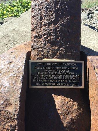Queen Charlotte City, Canada: World War II Liberty Ship Anchor
