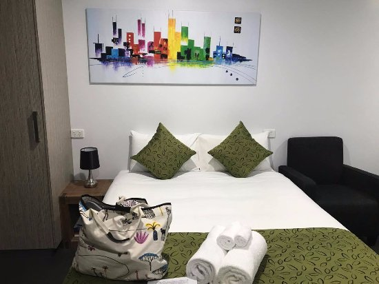 Wodonga, Αυστραλία: Bed in Room 9