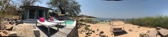 Likoma Island, Malawi: Beautiful lodge blended into the shore of Lake Malawi