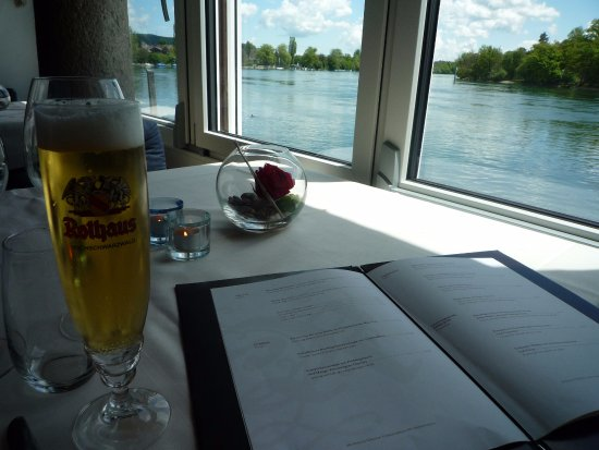 Busingen am Hochrhein, Germany: Rhine river & local beer