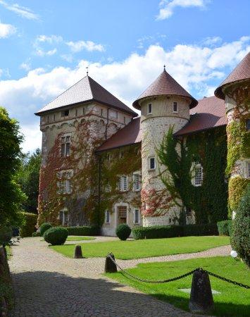 Thorens-Glieres, فرنسا: la cour du château