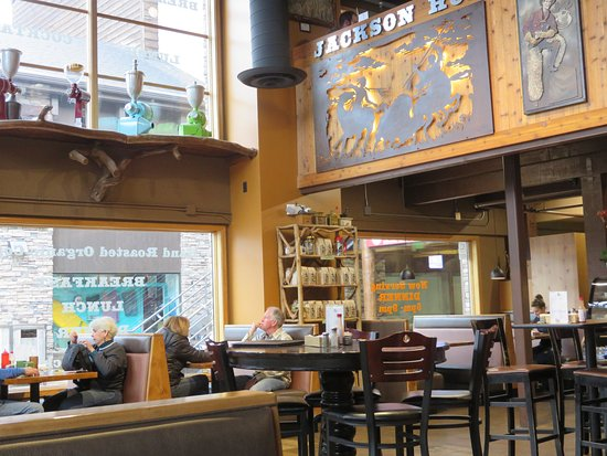Jackson Hole Roasters Restaurant Coffeehouse Small Front With Coffee Food Alcohol