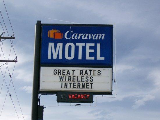 Quesnel, Canada: Motel sign