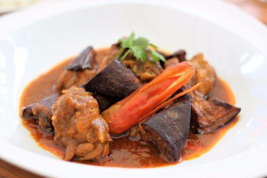 Red Chicken Eggplant Thai Curry With Coconut Milk Jasmine