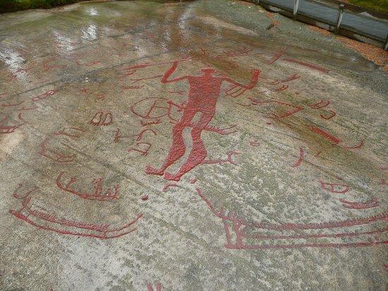 Tanumshede, Svezia: The spear god- the largest carving