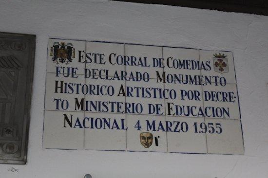 Almagro, España: Cartel entrada II