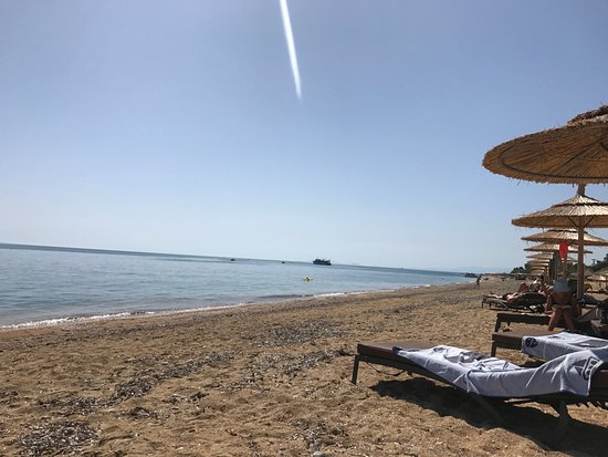 Regina Dell Acqua Resort: Lovely sandy beach outside the hotel