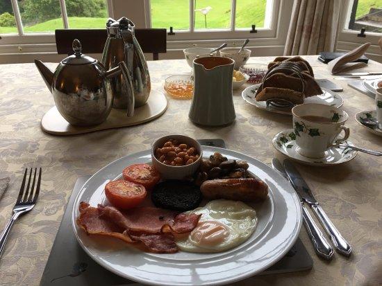 Walkerburn, UK: Breakfast Set up